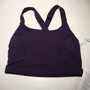 Lululemon purple pure practice bra